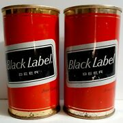 2 Black Label Cabling Brewing Company Cleveland Ohio Pull Tab Beer Cans 12 Oz