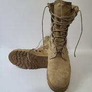 Wellco Men's Tan Desert Military Tactical Boots 10.5 W Army Combat Hot Weather