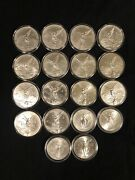 Lot Of 18 Mexico 1 Onza Libertad .999 Fine Silver Coins Oz Ounce Various Dates