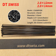 Dt Swiss Champion Spoke J-bend 2.0mm 80 - 230mm Any Length With Dtswiss Nipple