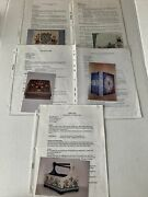 Bayberry's Studio Arts And Crafts Lot Of 5 Tole Painting Patterns