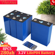 Lifepo4 Lithium Iron Phosphate Battery Pack 3.2v 280ah Electric Car Boat 8pcs