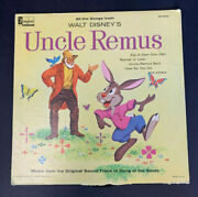 Walt Disneyand039s Uncle Remus Song Of The South Soundtrack Dq 1205 Disneyland Record