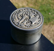 Mushrooms Shrooms Fungus 2 1/8 Tall 3 1/8 Diameter Pewter Container By Metzke