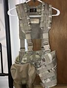 Lbt Load Bearing Equipment Lbe Vest In Multicam With Saw Molle Pouch