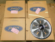 1966 Ford Mustang Fastback Coupe Convertible Nos Wheel Covers Hub Caps Set Of 4