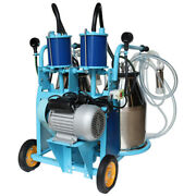 Tech New 110v Electric Piston Milking Machine Farm Cows And Goat Double Buckets