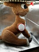 Hallmark Rudolph The Red Nosed Reindeer Plush Singing/lights Christmas Has Tags