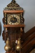 Vintage Old Manual Classic 1947 Wall Clock Wood Wooden Handmade Antique