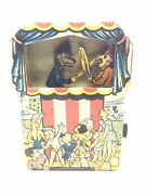 Rare Punch And Judy Antique Tin Toy Mechanical Bank - Works Wow Condition