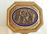 Antique Bronze And Enamel Jewelry Box French 1900andacutes Hallmarked