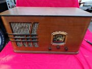 Antique Aircastle Air Castle Wooden Tube Radio Collectors Must Have Working
