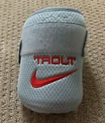 Mike Trout 2020 Game Used Elbow Guard Worn Signed Inscribed Auto Angels