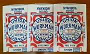Vintage Union Workman Chewing Tobacco Foil Pack 3 Pouches New Old Stock