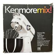 Kenmore Elite 5 Quart 400 Watt White Stand Mixer Led Stainless Steel Electric