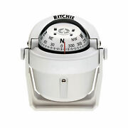 Ritchie Navigation B-51g Explorer Compass - Bracket Mount White With White Dial