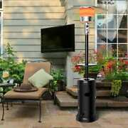 Outdoor Heater Propane Standing Lp Gas Steel W/table Patio Picnic Yard Parties