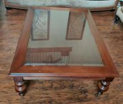 Ethan Allen Vintage British Classics Old World Treasures Cane Coffee Table1986