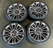 26 Silver/chrome W/tires And Tpms Fits Cadillac Escalade Chevy Tahoe Gmc Sierra