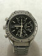 Omega Speed master Date Day Date Andmiddot Ss Analog Stainless Black Silver