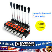 7 Spool Hydraulic Directional Control Valve 13gpm Adjustable Tractors Loaders