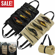 Tool Roll Up Bag Waxed Canvas Pouch Tools Tote Carrier Holder Per Small Tool