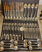 Rambler Rose Towle Sterling 12-6 Piece Place Settings + 4 Serving Spoons + Ladle