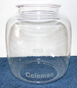 355 Clear Glass Globe For Vintage Coleman Pressure Lanterns Lamps 1930-1940's