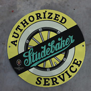 Vintage 1959 Studebaker Packard Authorized Service Porcelain Gas And Oil Sign