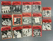 1940-50's Baseball Magazine 14 Issue Lot In Poor Condition Mainly