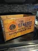 Antique Vintage Genesee Brewing Co Rochester New York Wood Beer Crate