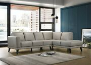 2pc Sectional Sofa Chaise Gray Italian Leather Left Facing Sofa Cushion Couch