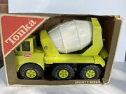 1974 Tonka Toys Mighty Mixer Lime Green 3950 W/ Box Inserts And Cataloge