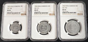 1953, Cambodia. Aluminum Pattern Essai 10, 20 And 50 Centimes. Ngc Ms-66/65/66