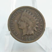 1888 Indian Head Penny Antique Us Copper Coin 1 Cent 1c