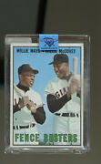 Willie Mays / Willie Mccovey 1967 Topps Fence Busters 423 Card