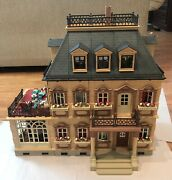 Playmobil 5300 Victorian Mansion W/ People Figures And Furniture Accessories Lot
