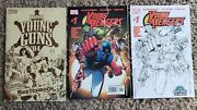 Young Avengers 1 + Wizard World La Sketch Variant + Young Guns 04 Sketchbook