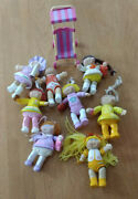 8 Vintage Cabbage Patch Kids Poseable Doll Mini Figures And Stroller