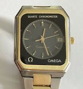 Stainless Steel And Gold Omega Quartz Chronometer - Solid Gold Center Link