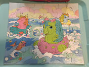 Vintage My Little Pony Baby Sea Ponies Mb Jigsaw Puzzle 1985 Complete 24 Pieces