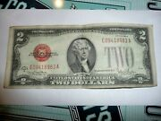 1928 G Us 2 Two Dollar Bill Note Red Seal Free Ship