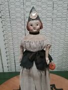 Nicol Sayre Halloween Witch Doll With Pumpkin 13 Inch