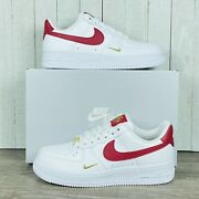Wmns Nike Air Force 1 And03907 White Gym Red Gold Cz0270-104 Womenand039s Size 6-11 Rare