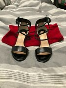 100 Authentic Womens Christian Louboutin Square Heels..size 6..worn Good Cond.