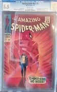 Amazing Spiderman 50 Cgc 5.5 Ow Pages 1st Kingpin Marvel 1967