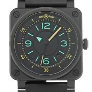 Bell And Ross Br0392 Bi-compass Limited Edition Automatic Black Menand039s Watch 42mm