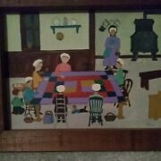 Dolores Hackenberger Original Oil  Painting The Quilting Party