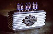 Concrete Nixie Clock H-d Was Made On 115th Anniversary Of Harley-davidson
