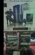 Playstation 3 Fat Backwards Compatible Console Bundle W/ 40 Games And Accesories